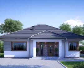 Osiedle Brzozowa, dom typu ECO parterowy 95,54m2 CHOTOMÓW k.Legionowa NOWOŚĆ 2019!
